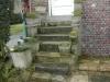 Réfection d'un escalier en béton. Avant travaux