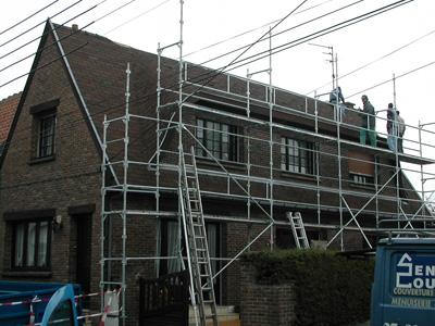 Rénovation toiture chantier en cours