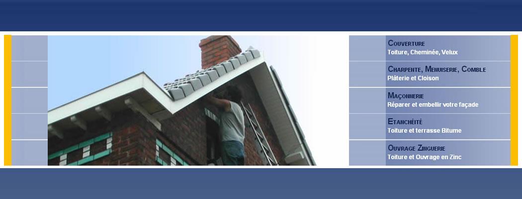 <blockquote>Notre entreprise, en plus de ses activités traditionnelles propose : L'entretien des toitures, L'habillage des pignons et murs en ardoises ou clins (avec ou sans isolant), L'habillage en PVC, La pose de VELUX et accessoires ...</blockquote>